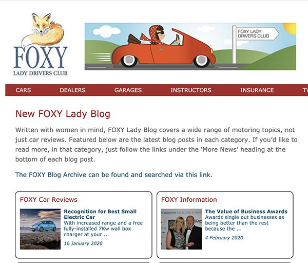 Foxy Lady Drivers Club Car Blog